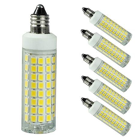 5 Pack E11 Led Bulb Dimmable 75w 100w Halogen Replacement Lights T4 Jd E11 Mini Candelabra Base 7w Ac110v 120v 130v Daylight 6000k Brand