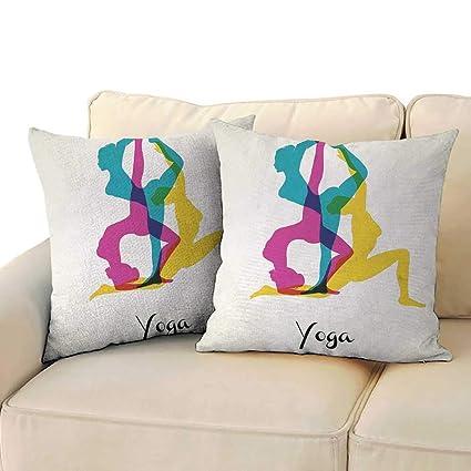 Amazon.com: RenteriaDecor Yoga,Sofa Home Decorative Pillow ...