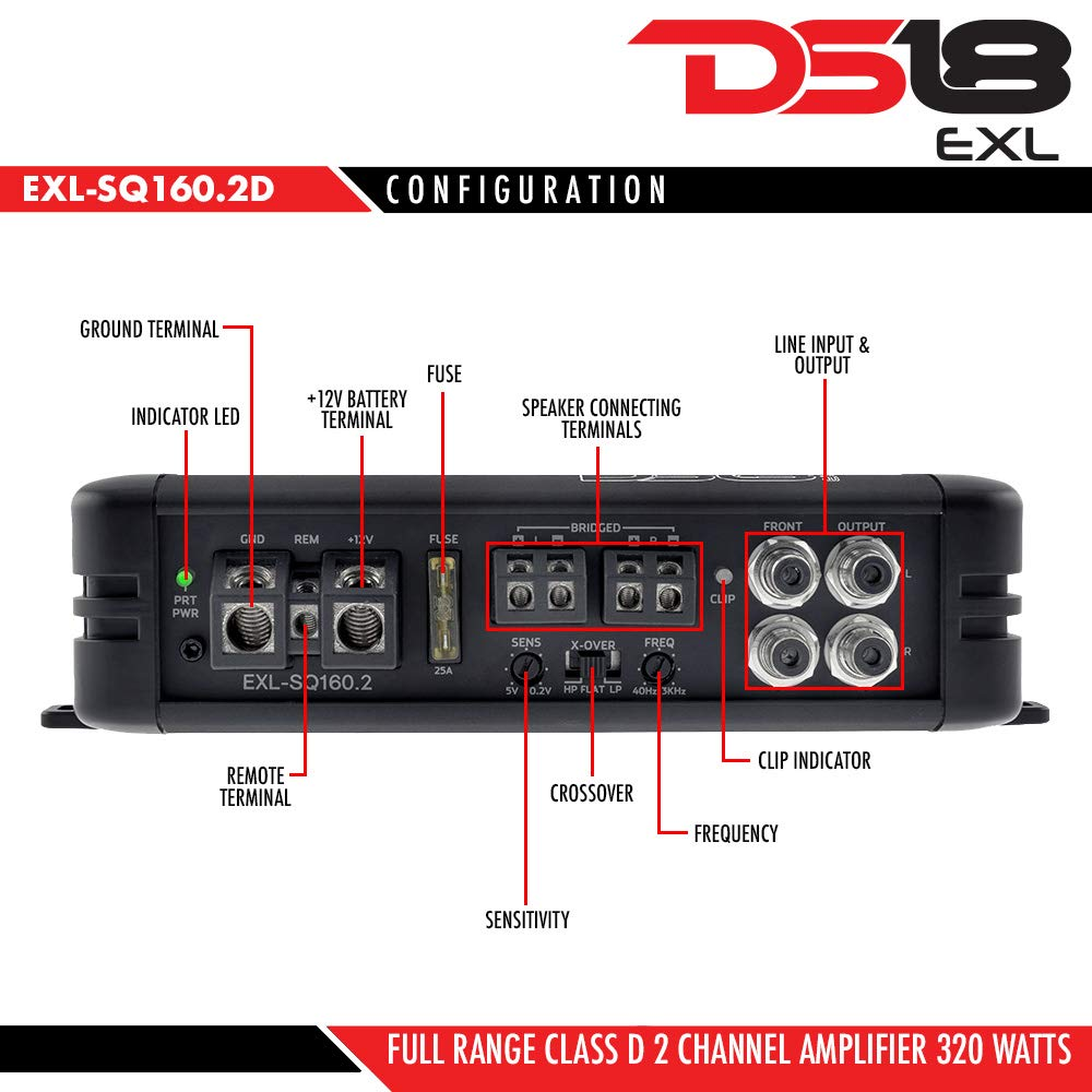 Automotive Dummy vendor code for NIS DS18 EXL-SQ1000.1 High Efficiency Compact 1000 Watts 1 Channel Luxury Monoblock Class D Sound Quality Amplifier with Bass Remote Knob DS18Sound