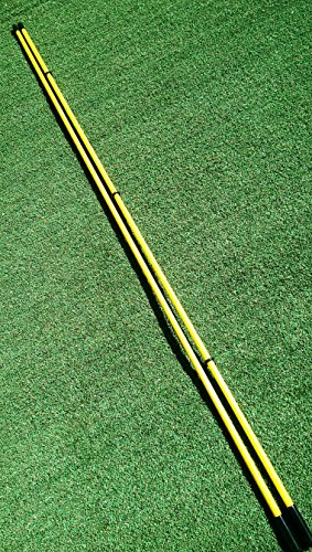 """Golfnsticks """"The Top Rated"""" Golf Alignment Sticks / Amazing Team Color Options / Made in the USA! / Fast! SUMMER BLOWOUT! (Yellow)"""