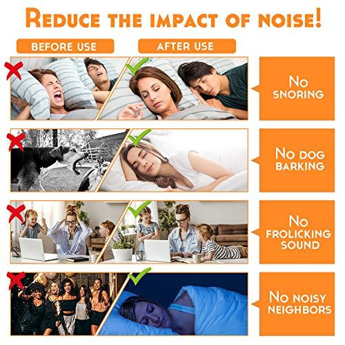 60 Pares Tapones Oido Espuma, Tapones Para Dormir con SNR de 38 dB, Protección Auditiva, Tapones Para Oidos, Roncar, Ruido de Construcción, Aviones, Trabajo, Aaprendizaje, Viajes, Naranja