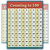 large 100 chart - counting to 100 numbers one hundred EXTRA LARGEchart LAMINATED clear teaching poster BIG educators students HUGE 24x30