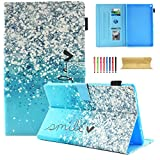 Coopts Case for All-New Amazon Fire HD 8 Tablet (7th / 6th Generation, 2017 and 2016 Release) - [Multi-Angle Viewing] Folio Stand Cover with Card Slots & Auto Wake/Sleep, Beautiful Bubble