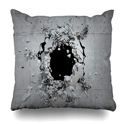 Amazon com: Ahawoso Throw Pillow Cover Bits Explode Explosion