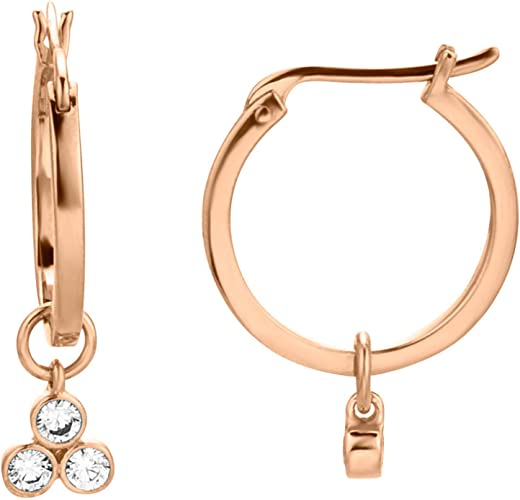 rosegold Esprit Creolen Ohrring Schmuck Accessoires Sterling Silber