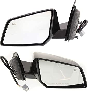 New Set Of 2 LH /& RH Side Heated Power Mirror W// Signal Lamp Fits Acadia Outlook
