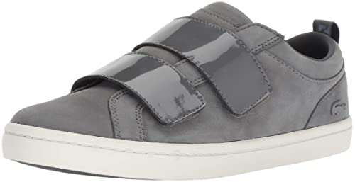 132a285b5d9537 Lacoste Women s Straightset Strap Sneaker  Buy Online at Low Prices ...