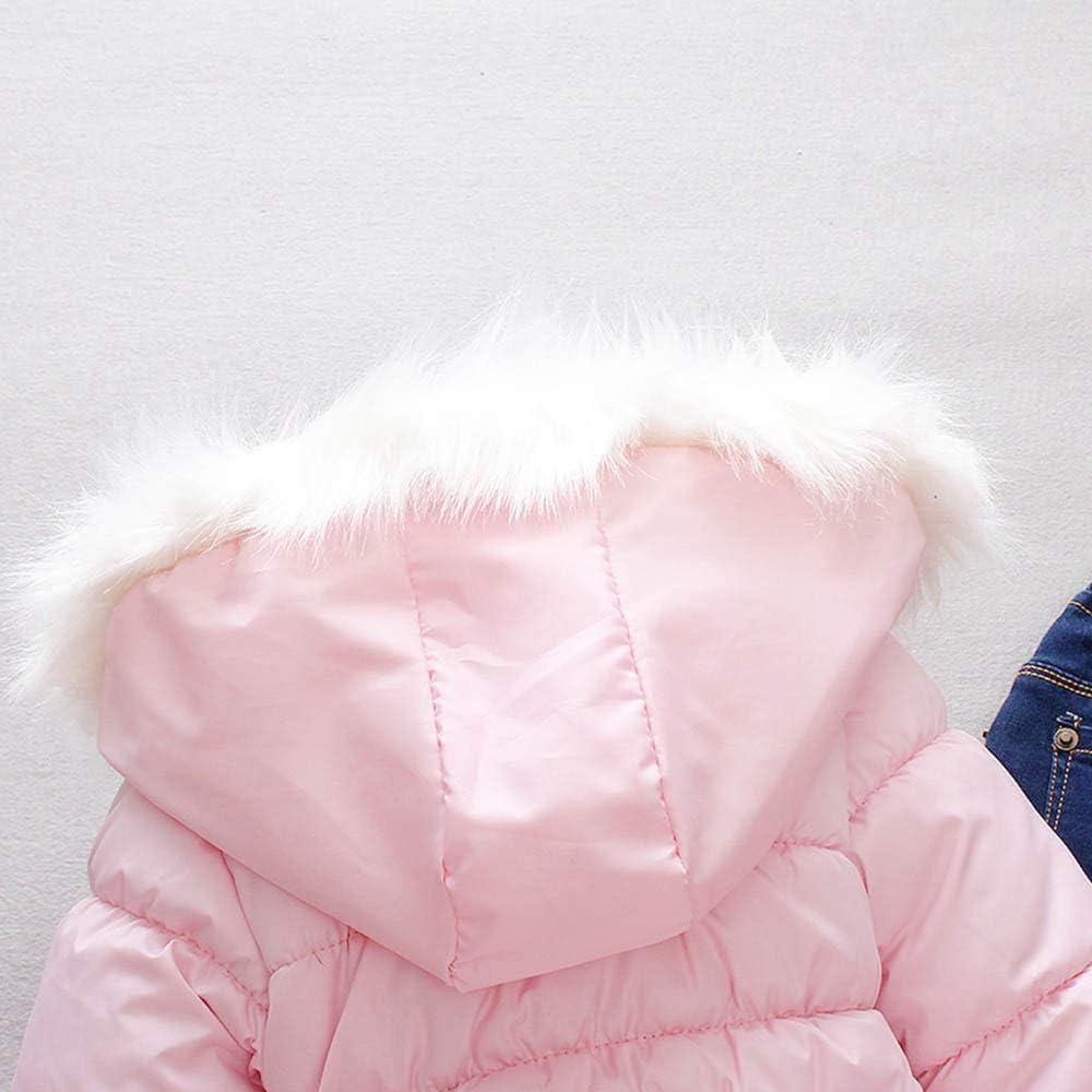 EGELEXY Baby Girl Fur Winter Warm Coat Cloak Jacket Thick Warm Clothes 6-12Months White