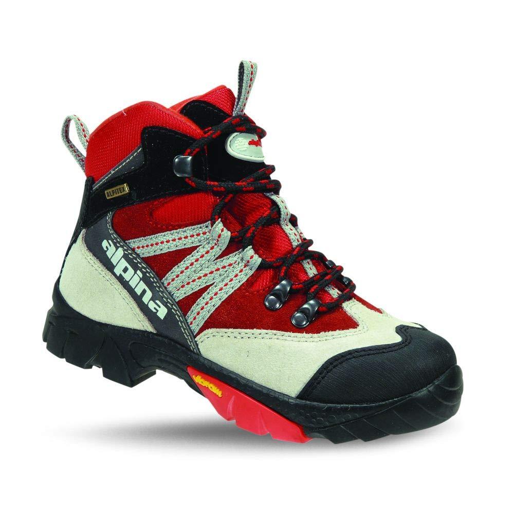 Alpina 680245, Unisex-Kinder Trekking- & Wanderstiefel, Rot (Rot/Grau), 27 EU …
