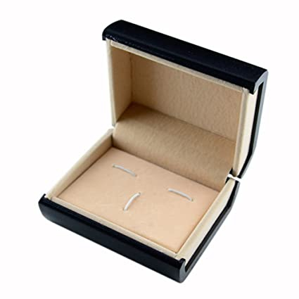Amazon.com : Cufflinks Lavalier Set Gift Box display carrying box protable Black Caja de regalo : Everything Else