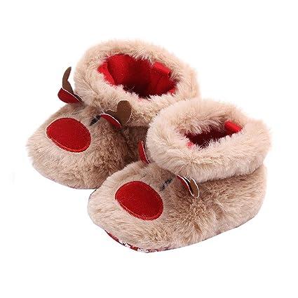 Amazon.com: ELINKMALL - Botas de forro polar para bebé ...