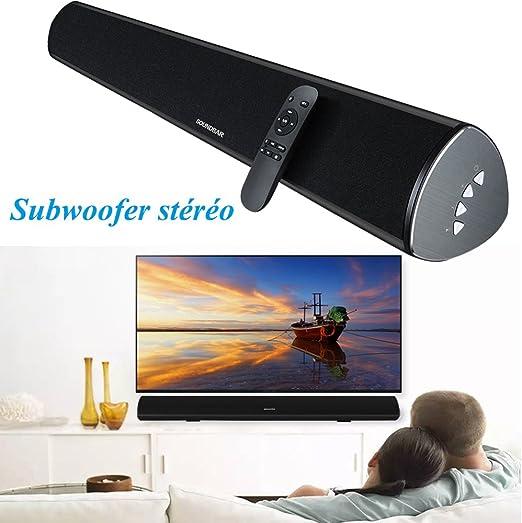 Soundbar Bluetooth altavoz TV estéreo Subwoofer Soundbar para Smart TV Soundbar 38 pulgada (2.0 cadena con mando a distancia DSP Tecnología casa cine Soundbar para TV ordenador portátil teléfono ordenador: Amazon.es: Electrónica