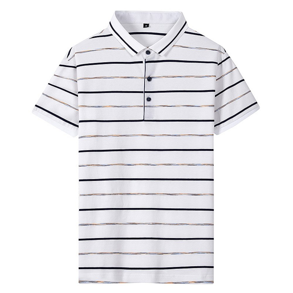 Hanglin Trade Mens Short Sleeve Slim Fit Solid Poly Polo Shirt Casual T-Shirts