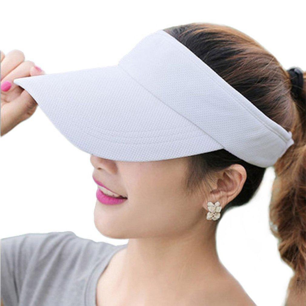 Women&Girls Mesh Adjustable Strap Wide Brim Visor Cap UV Protection Summer Sun Hats RICHTOER
