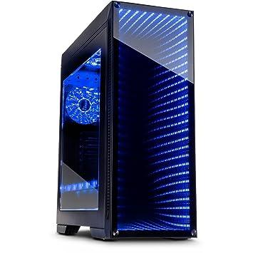 infinity FX-Mirror Tower Gamer PC caja con frontal de vidrio templado cristal de espejo Infinito Espejo ledes RGB de Gaming Cuerpo de la extravagancia sin ...