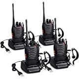 Proster T0036X2 - Walkie Talkie Recargables, 16 Canales, CTCSS DCS, con Auricular Incorporado