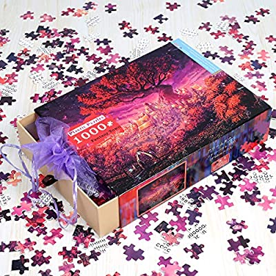Ingooood - Jigsaw Puzzle 1000 Pieces- Fantasy Town_IG-0494- Entertainment Recyclable Materials Plastic Puzzles Toys: Toys & Games