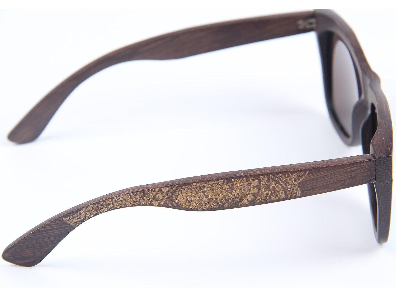 gafas de sol flotantes con caja de bamb/ú gafas vintage LY4U marco de bamb/ú lleno polarizado para hombre y para mujer de bamb/ú Gafas de sol revestidas de madera cl/ásico