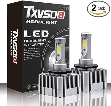 D1S D3S LED Headlight Kit Bulbs 6000K White Replace HID Xenon Conversion Lamps