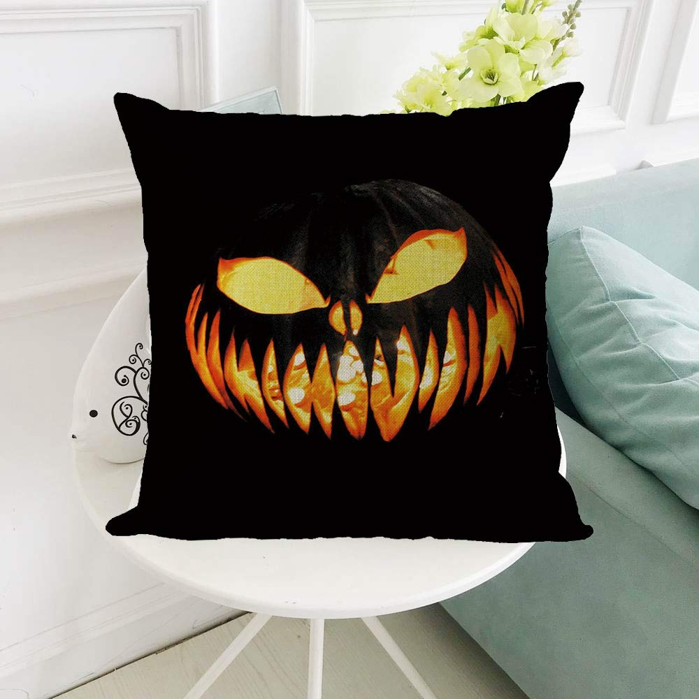 Zainafacai Hoem Decor New Arrival-2018Halloween Pillowcase Decorative Upholstery Cushion Throw Pillow Cases-9 Multicolor Patterns (B, One Size) by Zainafacai Hoem Decor (Image #1)