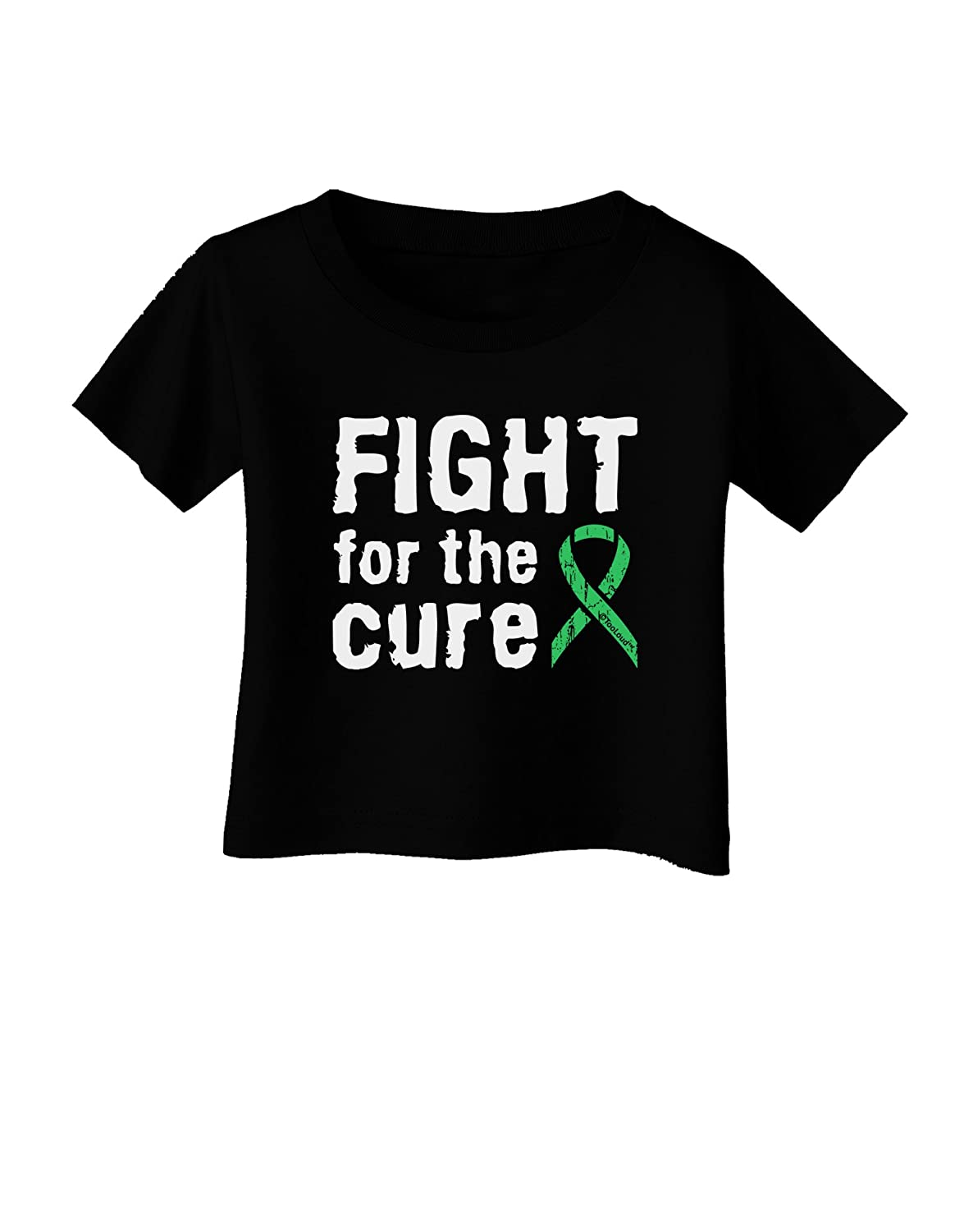 TooLoud Fight for The Cure Light Green Ribbon Celiac Disease Infant T-Shirt Dark