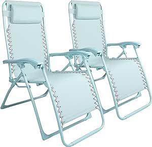 Yangming Galion Reclining Zero Gravity Chair (Set of 2), Blue