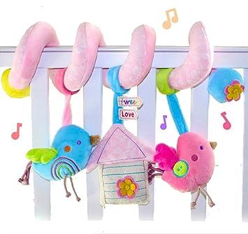 SKK BABY Plush Spiral Activity Toy Crib Stroller Car Seat Travel Bird