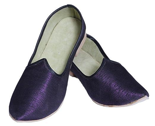 Purple Color Simple Mojari Juti Indian Shoes
