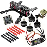 Hobbypower DIY 250mm Quadcopter Mini Racing Drone + HP T2204 2300KV Motor + BLHeli 20A ESC +CC3D Flight Controller +5045 Propeller