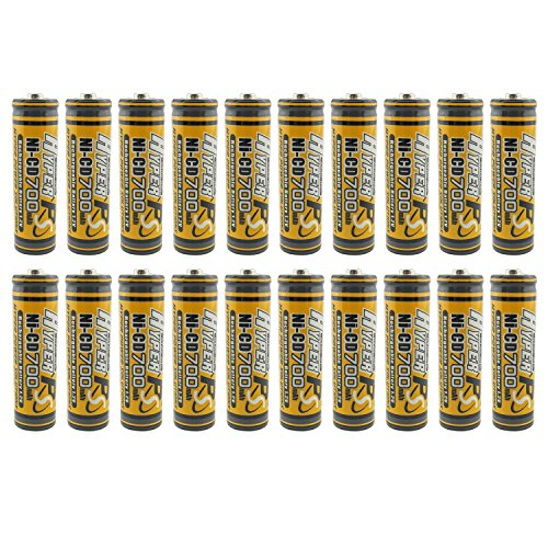 (20-Pack) HyperPS 1.2V AA 700mAh Ni-Cd NiCd Rechargeable Battery For NiCd Solar Panel Light Lamp, RC Toy