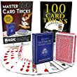Magic Makers 100 Card Tricks Kit - Automatic Marked Deck & Svengali Trick Deck Included