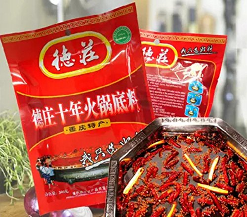 Chongqing Specialty: De Zhuang Hotpot Seasoning Hotpot Condiment or Seasoning or for Chuan Chuan Xiang or Ma La Tang