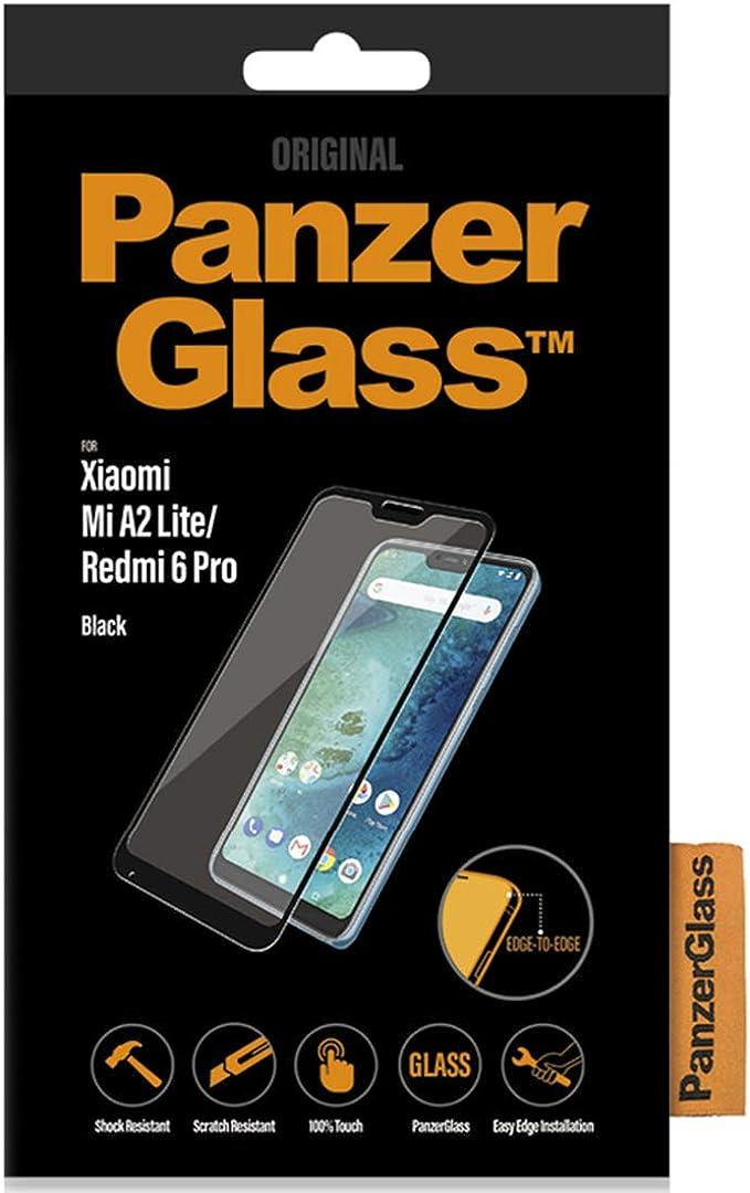 Cristal protector para Xiaomi Mi A2 Lite/Redmi 6 Pro, Black Edge to Edge: Amazon.es: Electrónica