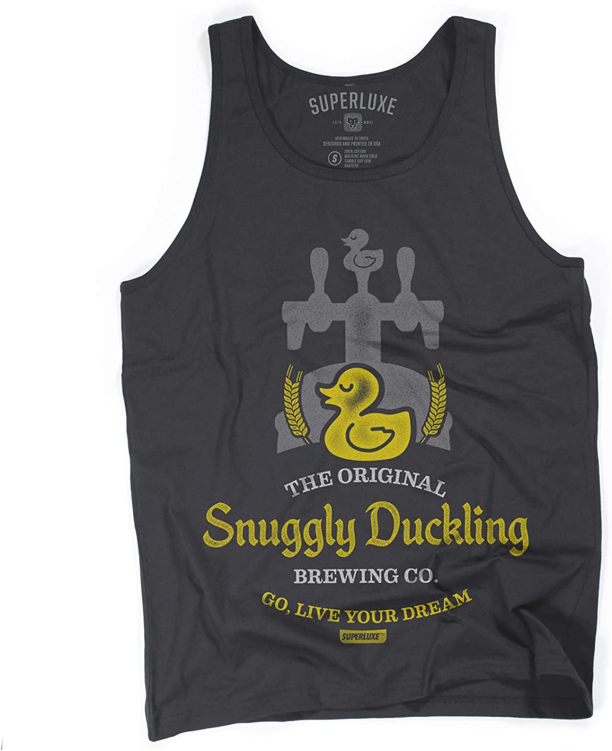 Superluxe Clothing Mens/Womens/Snuggly Duckling Brewing Company Tank Top