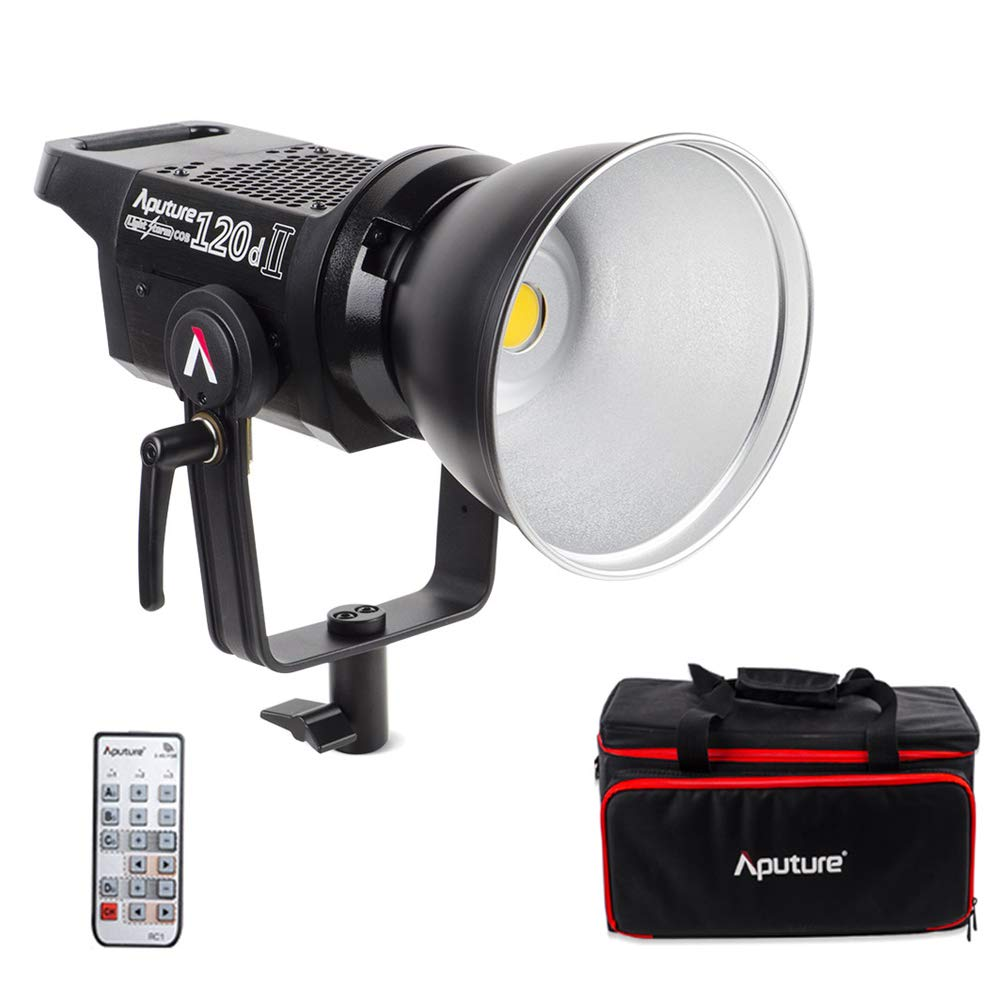 Aputure Light Storm LS C120D Mark 2 120D II Led Continuous Output Lighting Ultimate Upgrade 30,000 Lux @0.5m Supports DMX 5 CRI96+ TLCI97+ Pre-Programmed Lighting Effects (V-Mount) by Aputure