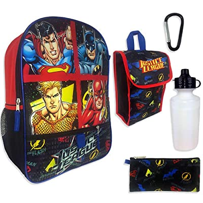 Justice League 5-Piece Backpack Set: Toys & Games