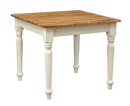 Biscottini - Tavolo quadrato in legno massello di tiglio, stile ...