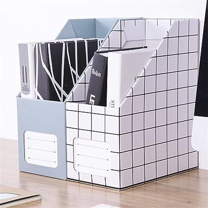 Portatarjetas multifunción en papel Soporte de archivo de papel grueso Suministros de oficina Almacenamiento en rack