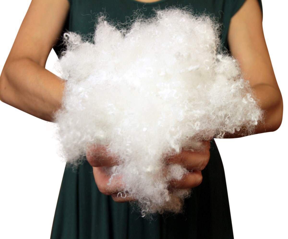 Big Plush 10 Pounds Premium Polyester Fiber White Fiberfill Stuffing, MODERATELY Dense and Heavy Blend by Big Plush