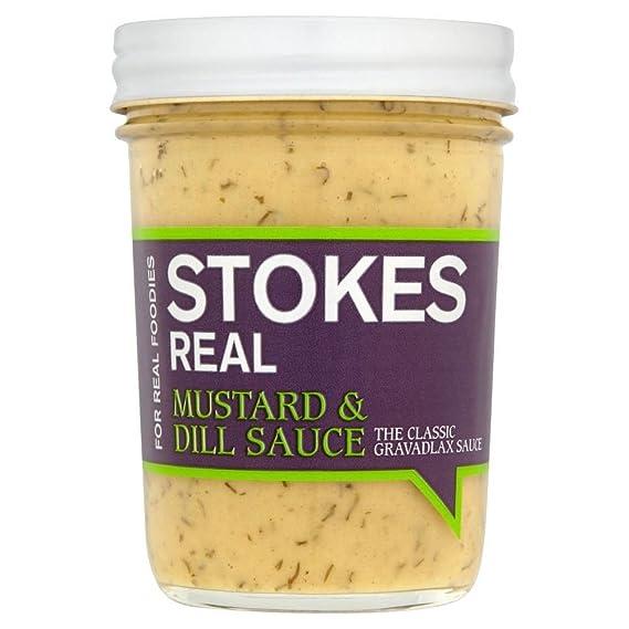 Stokes Bienes De Mostaza Y Salsa De Eneldo (213g) (Paquete de 6)