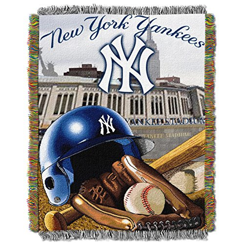 Sweatshirt Boys Field - The Northwest Company MLB New York Yankees Home Field Advantage Woven Tapestry Throw, 48