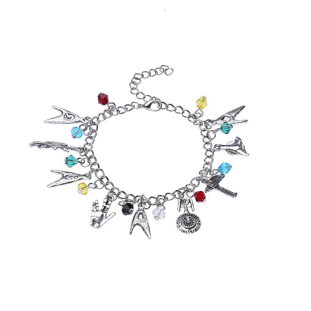 Lureme Star Trek Charm Bracelet Cosplay Jewelry (bl003121) Yida