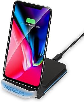 design intemporel pas de taxe de vente meilleur service Chargeur sans Fil Rapide, Qi Chargeur Induction Fast Wireless Charger Pad  pour Galaxy S8/ S8 Plus/S7/S7 Edge/S6 Edge Plus/Note 5, iPhone X/8/8 Plus  et ...