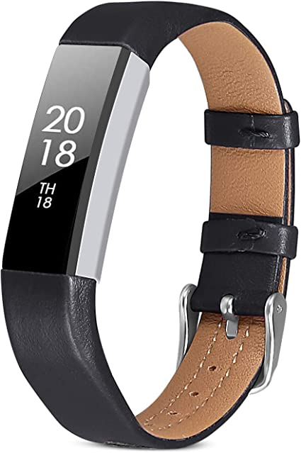 For Fitbit Alta Alta HR Adjustable Replacement Bracelet Strap Leather Band Sport