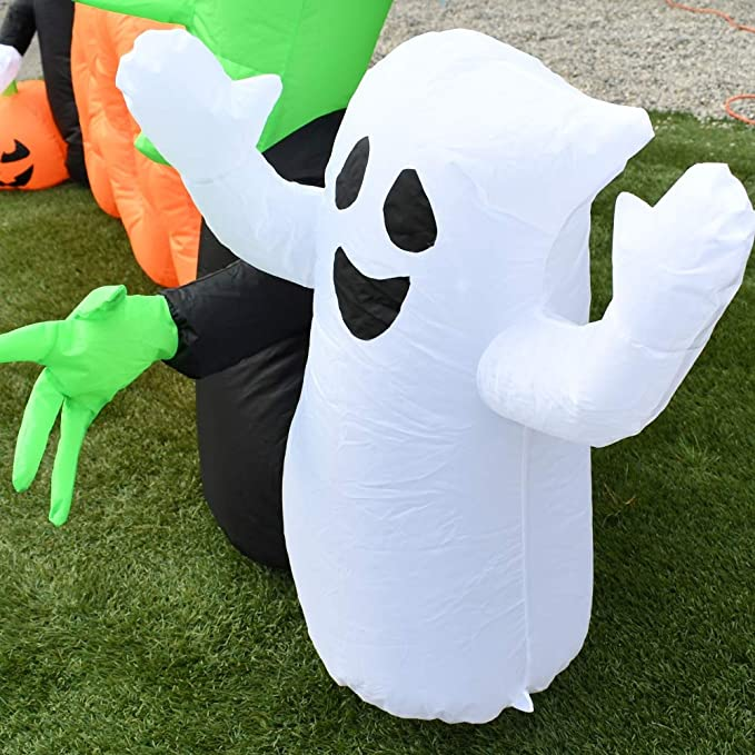 Amazon.com: Aleko HLID059 hinchable Boo Halloween Amigos ...