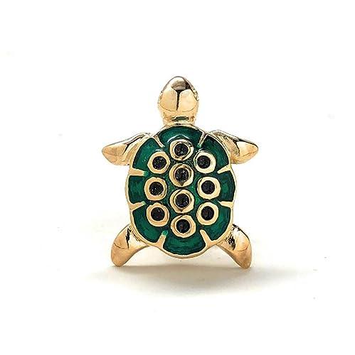 Pin de solapa para hombre con diseño de tortuga, color dorado y ...