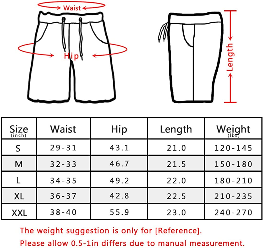 ELETOP Mens Cargo Shorts Relaxed Fit Elastic Waist Casual Shorts Outdoor Lightweight Multi Pocket Cotton Shorts