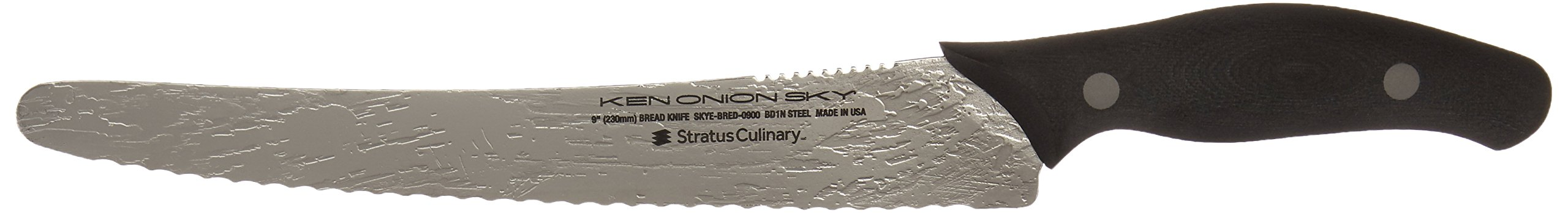 Stratus Culinary Ken Onion SKY Bread Knife, 9-Inch, Silver