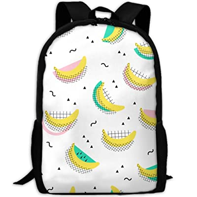 SZYYMM Banana Pattern Oxford Cloth Casual Unique Backpack, Adjustable Shoulder Strap Storage Bag,Travel/Outdoor Sports/Camping/School For Women And Men free shipping
