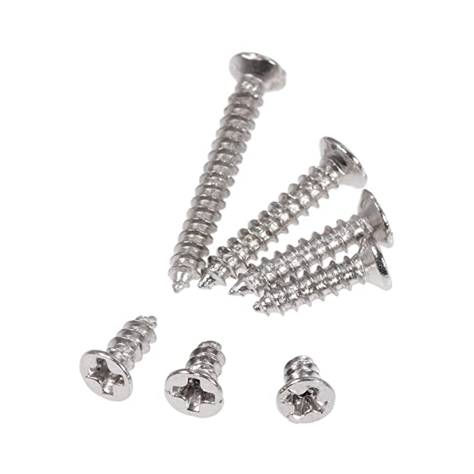 400pcs ASSORTED No.6 8 10 A4 STAINLESS POZI PAN HEAD SELF TAPPING SCREWS KIT